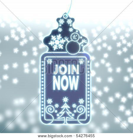 Magic Christmas Label With Join Now Sticker