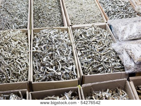 Dried assorted anchovy fish
