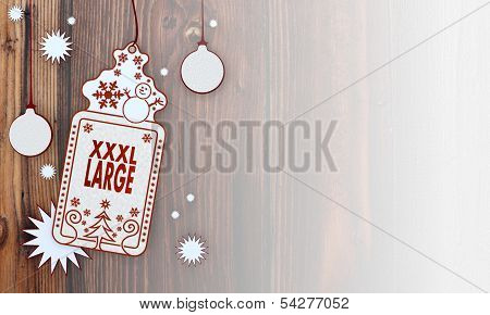 Xmas Coupon With Xl, Label