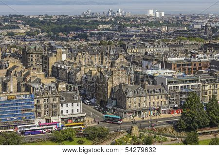 View On Edinburgh With Princess Street