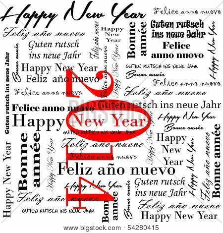 happy new year 2014 words in many languages