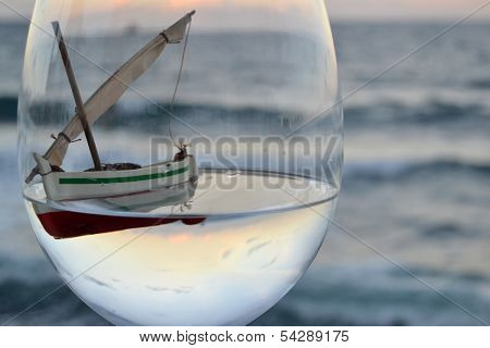 Boat in the glass