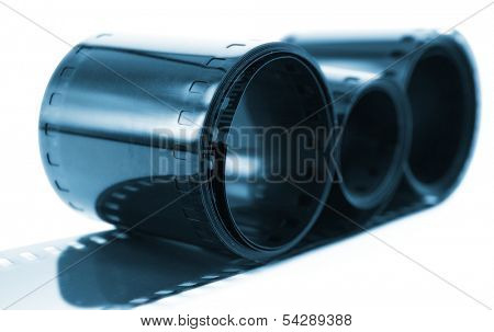 35mm film isolated on white background