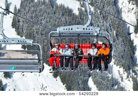 Ski lift in Austria