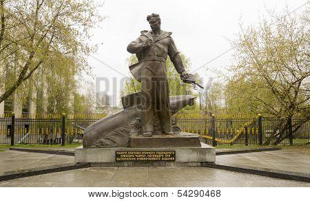 Russian Military Marine Statue