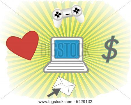 E-commerce Vector Background