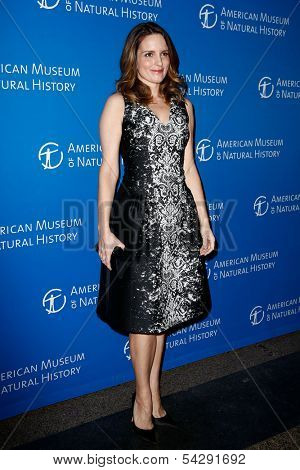 NEW YORK-NOV 21; Actress Tina Fey attends the American Museum of Natural History's 2013 Museum Gala at American Museum of Natural History on November 21, 2013 in New York City.