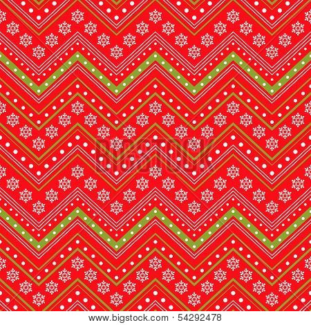 Red Winter Christmas Seamless Background