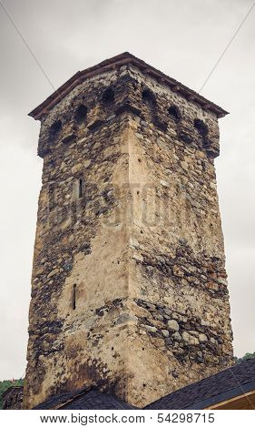 Tower in Mestia, Svaneti, Georgia