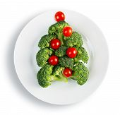 Christmas Tree Made From Broccoli