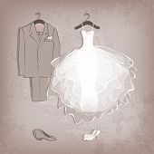 picture of fiance  - bride dress and groom - JPG