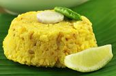 stock photo of bengali  - Bengali cuisine of rice and lentils named as Khichuri - JPG