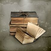 pic of hardcover book  - Stack of old books - JPG