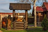 Wooden Structures And Characters Of Fairy Tales