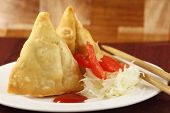 foto of samosa  - South Asian samosa named as shingara in Bangladesh