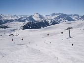 Wintersports On The Alps In Austria