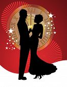 picture of waltzing  - Couple on New Years eve - JPG
