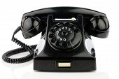 stock photo of bakelite  - Old retro bakelite telephone - JPG