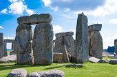 pic of stonehenge  - Stonehenge prehistoric ancient monument near Salisbury England  - JPG