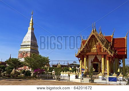 Chedi Phra That Renu With Architecture