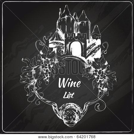 Wine list chalkboard label