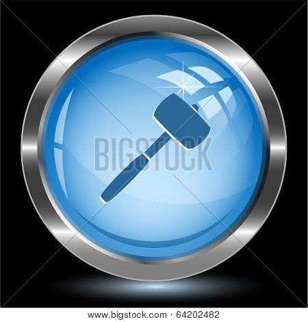 Mallet. Internet button. Vector illustration.