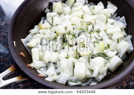Pan Of Sauted Onions