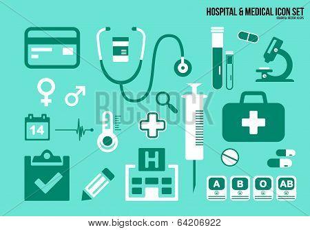 Icons Set Hospital & Medical