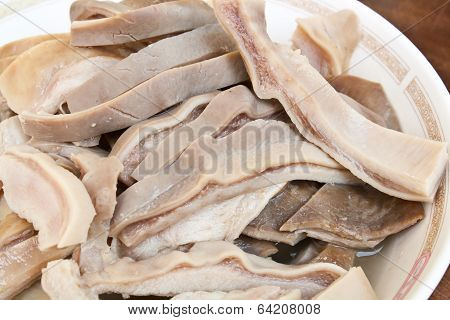 Boiled Hog Maw Close Up