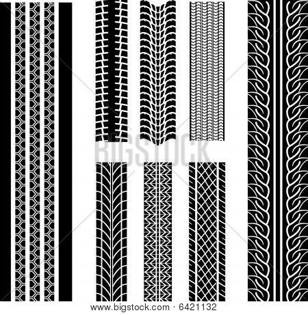Set of tire patterns