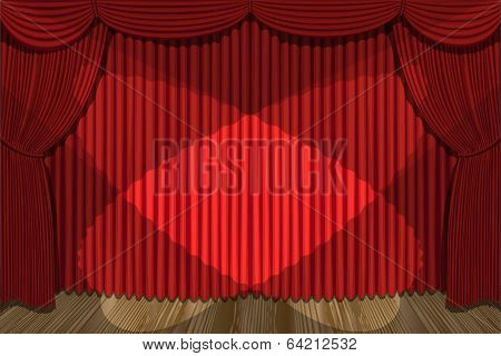 red drapes