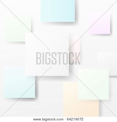 Bright Halftone Abstract Square Advertisement Background