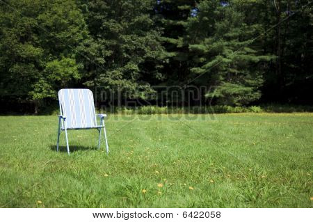 Folding Chair In Stripes