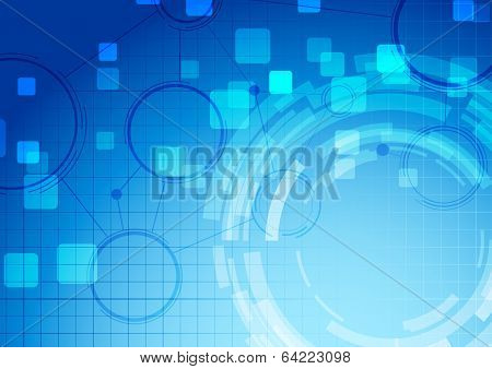 Abstract Blue Technology Connection Background