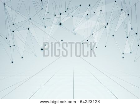 Abstract Network Connections Perspective Background