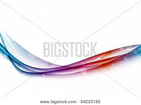 Bright Swoosh Lines And Waves Background