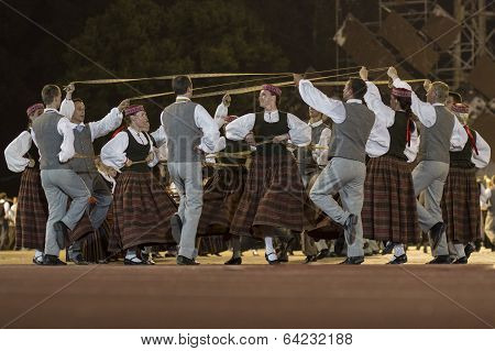 RIGA, LATVIA - July 4, 2013: The Latvian National Song and Dance Festival
