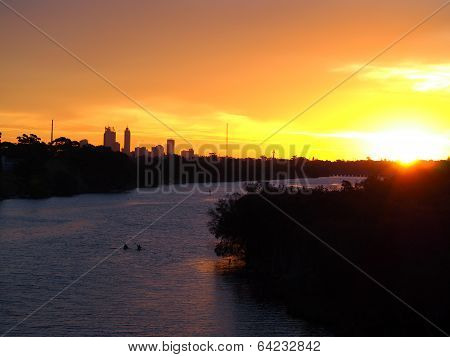 Sunset Over The Swan River, Perth
