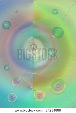 Bright vitreous background with colored circles