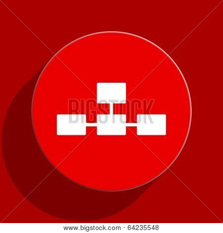database web flat icon
