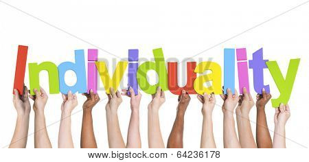 Multiethnic Group of Hands Holding Individuality