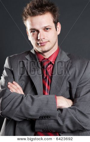 Portrait Of Trustworthy Businessman
