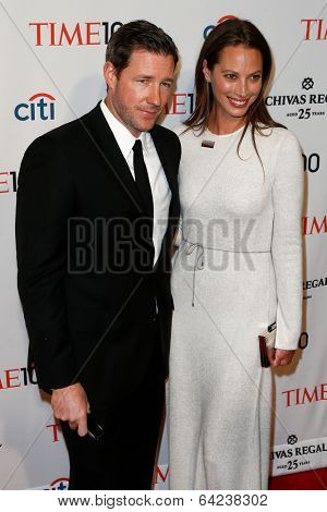 NEW YORK-APR 29: Actor Ed Burns (L) and wife Christy Turlington Burns attend the Time 100 Gala for the Most Influential People at the Frederick P. Rose Hall on April 29, 2014 in New York City.
