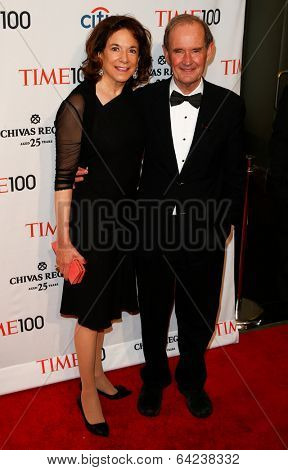 NEW YORK-APR 29: Lawyer David Boies & wife Mary Boies attend the Time 100 Gala for Most Influential People in the World at Frederick P. Rose Hall at Lincoln Center on April 29, 2014 in New York City.