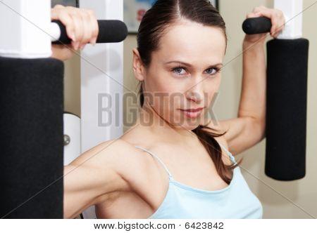Pretty Sportswoman Training