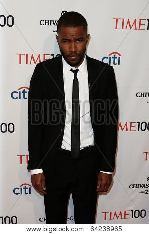 NEW YORK-APR 29: Singer Frank Ocean attends the Time 100 Gala for the  Most Influential People in the World at the Frederick P. Rose Hall at Lincoln Center on April 29, 2014 in New York City.