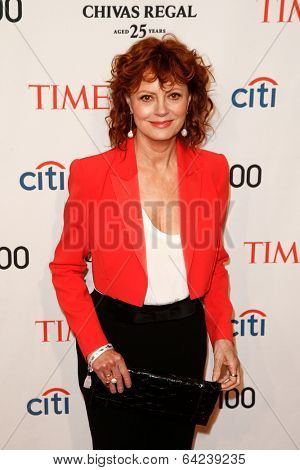 NEW YORK-APR 29: Actress Susan Sarandon attends the Time 100 Gala for the Most Influential People in the World at the Frederick P. Rose Hall at Lincoln Center on April 29, 2014 in New York City.