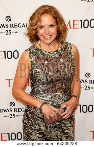 NEW YORK-APR 29: TV host Katie Couric attends the Time 100 Gala for the Most Influential People in the World at Frederick P. Rose Hall at Lincoln Center on April 29, 2014 in New York City.