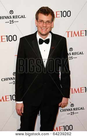 NEW YORK-APR 29: Author John Green attends the Time 100 Gala for the Most Influential People in the World at the Frederick P. Rose Hall at Lincoln Center on April 29, 2014 in New York City.