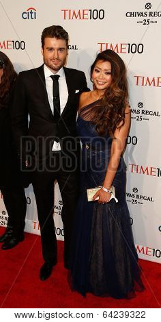 NEW YORK-APR 29: CEO/founder of Mashable Peter Cashmore and guest attend the Time 100 Gala for Most Influential People at Frederick P. Rose Hall at Lincoln Center on April 29, 2014 in New York City.